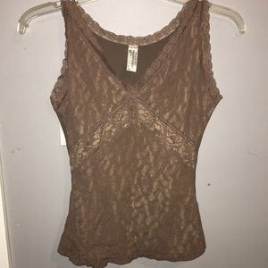 Maidenform Brown Lace Camisole